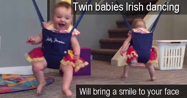 Cute video shows twin babies Irish dancing