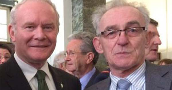 John Connolly - grandson of Easter Rising leader James Connolly - with Martin McGuinness