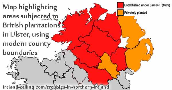 The troubles in northern ireland ireland calling plantation of ulster under james i image copyright ireland calling gumiabroncs Choice Image