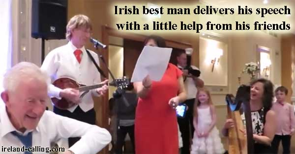 Best man gets band to help with his speech