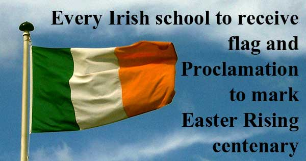 Every school in Ireland to receive flag to mark Easter Rising centenary. Photo copyright Magnus Manske CC2