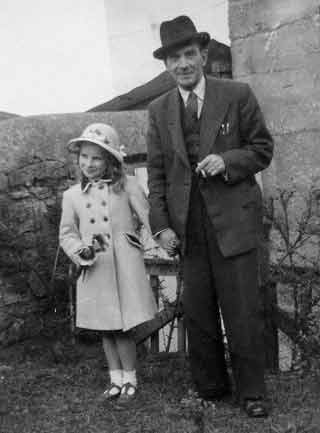 57-year-old Stephen Pollard with daughter Stephanie in 1950