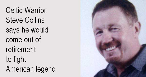 Celtic Warrior Steve Collins says he would come out of retirement  to fight American legend. Photo copyright Mark Hillary cc2