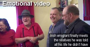 Emotional video - Irish emigrant Paddy Monaghan finally meets the relatives he was told all his life he didn't have