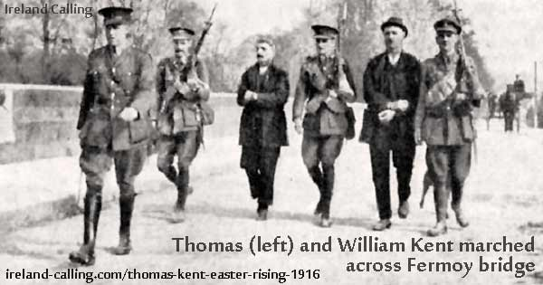 Thomas (left) and William Kent marched across Fermoy Bridge