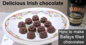 How to make Baileys filled chocolates