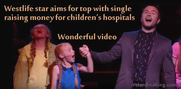 Westlife star aims for top with single benefiting children's hospitals
