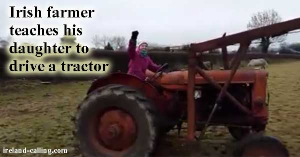 Irish daughter drives tractor