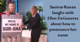 Saoirse Ronan chats about the pronunciation of her name