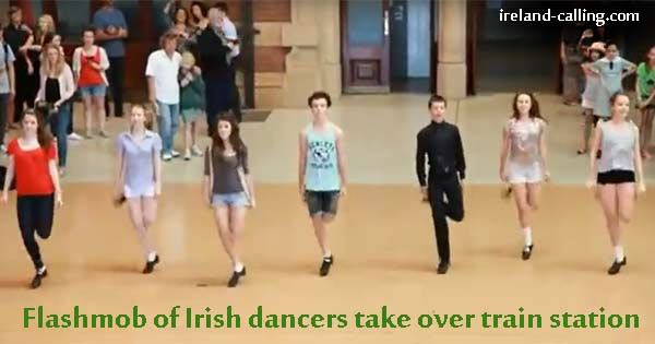 Flashmob of Irish dancers stun Sydney Central