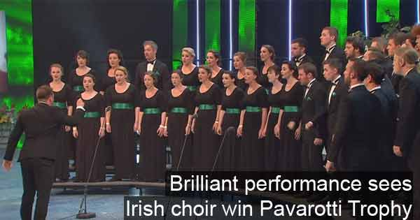 When breath-taking performance saw Irish choir win Pavarotti trophy