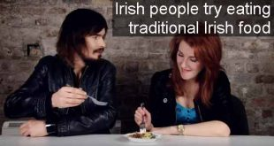 Irish people try eating traditional Irish food