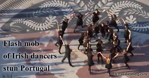 Flash mob of Irish dancers stun Portugal