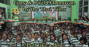 Thai Tims sing song for Olympic heroes Gary and Paul O'Donovan
