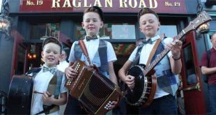 Talented young Irish dancers musicians The Byrne Brothers are a bit hit in the US