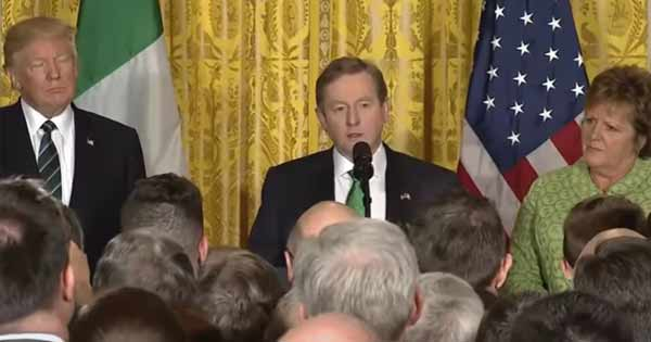 Video of Taoiseach Enda Kenny's speech at the White House