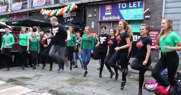 Fusion Fighters light up St Patrick's Day crowd at Temple Bar