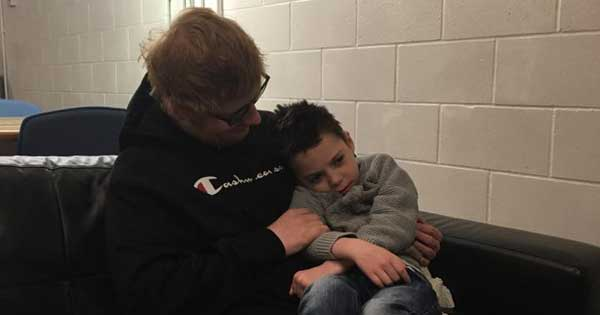 Ed Sheeran invites terminally ill boy backstage