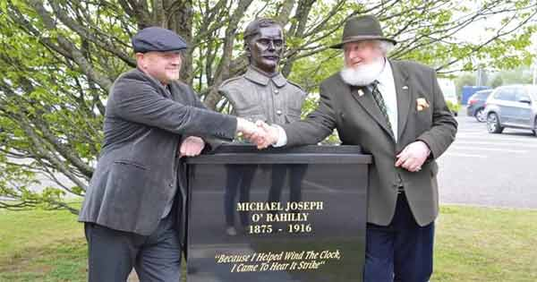 Black marble bust of Easter Rising hero The O'Rahilly