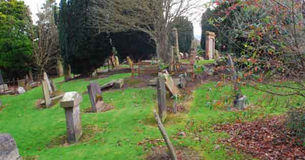 In the 19th century a baby was buried alive at Knock burial ground in Blefast