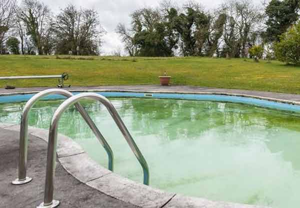 Niall Horan's Co Westmeath mansion outdoor pool