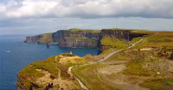 Stunning drone footage of the Cliffs of Moher