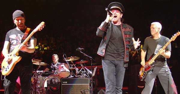 U2 forced to cancel St Louis gig due to violent protests. Photo copyright Brown CC2.5
