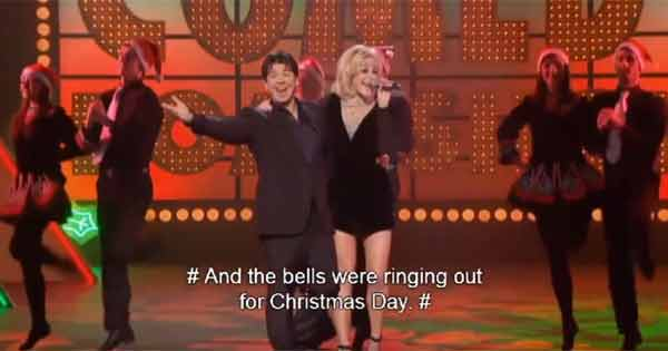 Michael McIntyre and Pixie Lott sing Fairytale of New York'