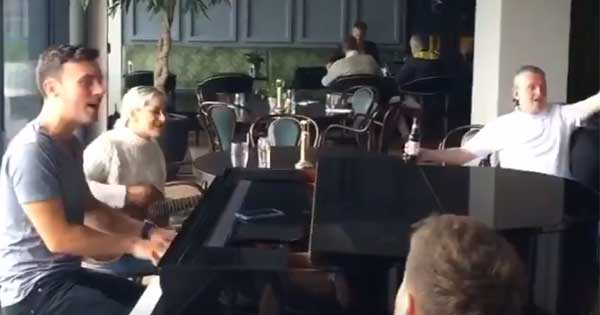 Nathan Carter performs at the Montenotte Hotel during Storm Ophelia
