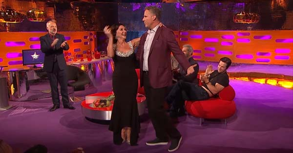 Will Ferrell shows off his dance moves on the Graham Norton show