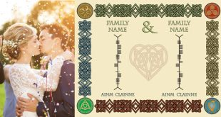 Unite your family names in Ogham