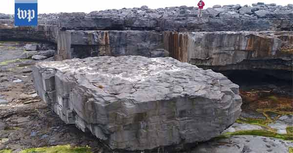 Aran island rock gives a stark warning of the vast power of the ocean