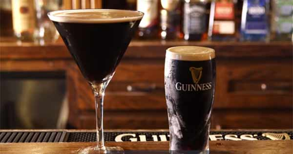 Guinness glass and large martini glass