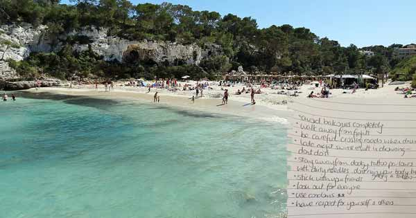 Irish mammy writes a list of rules for her son ahead of his Leaving Cert holiday to Santa Ponsa. Photo copyright Olaf Tausch CC3