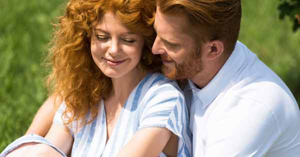 Red headed man and woman