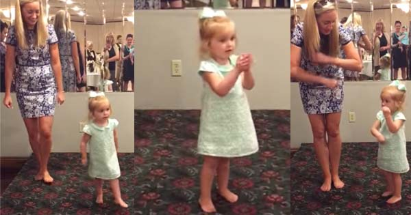 Toddler Irish dances at funeral