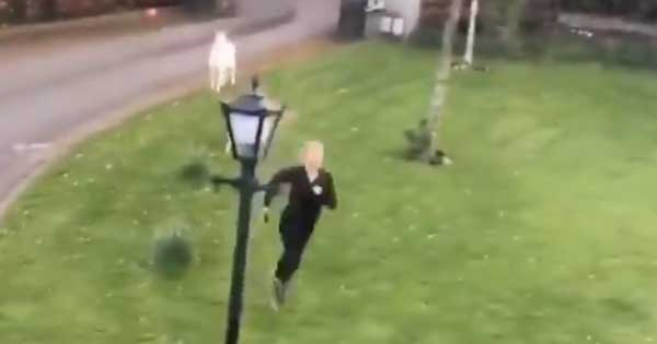 Irish jogger chased back into her house by rogue goat