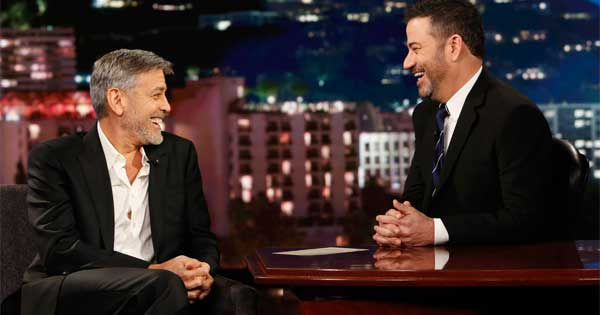 George Clooney with Jimmy Kimmel