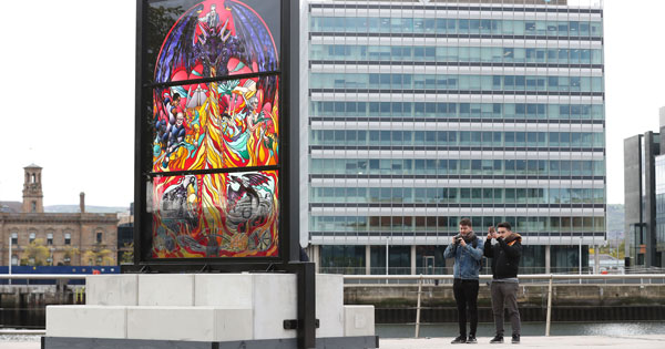 Belfast's latest Glass of Thrones stained-glass installation celebrates House Targaryen