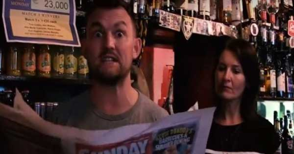 Irish pub owner hits back at negative review with hilarious video