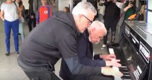 Two Irishmen meet by chance and play most amazing piano duet you've ever heard