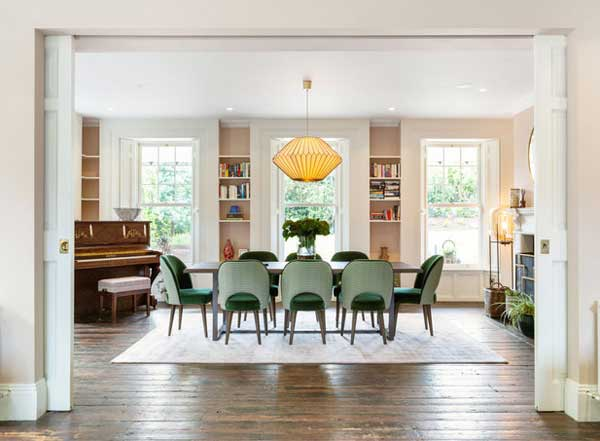 Saoirse Ronan's Co Wicklow house, dining room