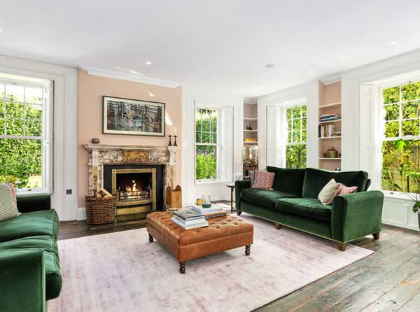 Saoirse Ronan's Co Wicklow house, fireplace