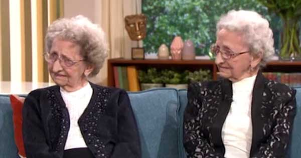 95-year-old twins thank 'no sex and plenty of Guinness' for long and healthy lives