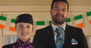 New Zealand airline pokes fun at the Ireland rugby team