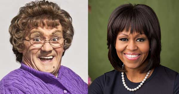 O'Carroll reveals dream guest Michelle Obama almost appeared on All Round Mrs Brown's