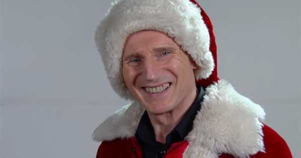 Liam Neeson is just too intense to make a good Santa Claus