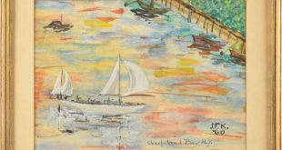 Two never before seen paintings by JFK to be sold at auction