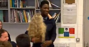 Nigerian-born Irish student celebrates with classmates after he's allowed to stay in Ireland