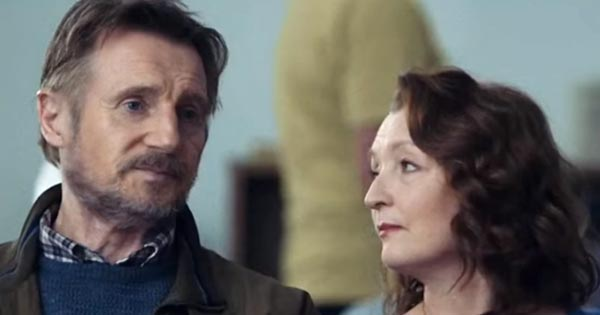 Liam Neeson and Lesley Manville